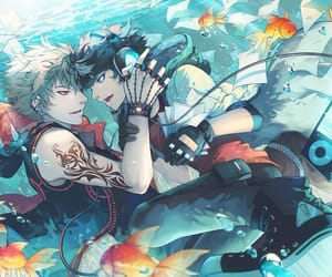anime, fishes, and men image