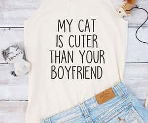 boyfriend, fashion, and cat top image