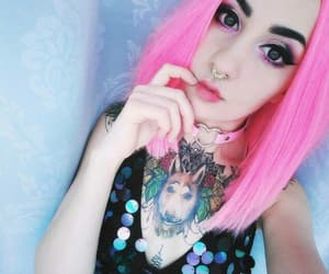 emo, tattoo, and hairstyle image