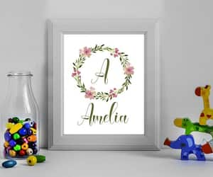 etsy, floral wreath, and custom print image
