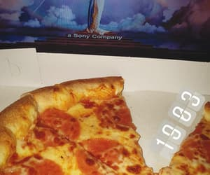 movie, night, and pizza image