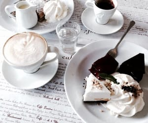 food, coffee, and dessert image