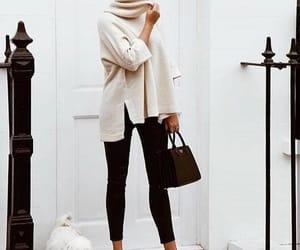 black, Blanc, and fashion image