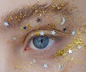 eyes, stars, and glitter image