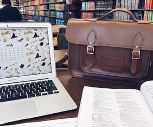 laptop, library, and study image
