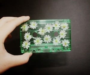 flowers, music, and grunge image