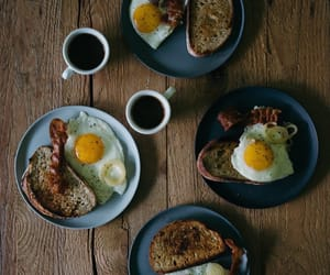 breakfast, eggs, and easy over image