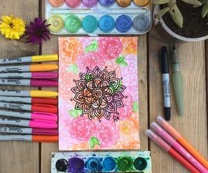 acuarela, colores, and mandalas image