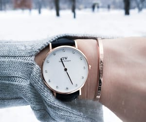 accessories, clock, and winter image