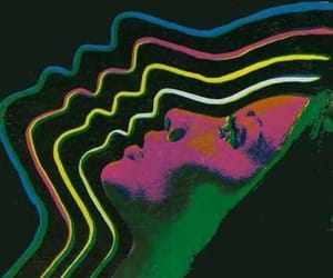 face, neon, and psychedelic image