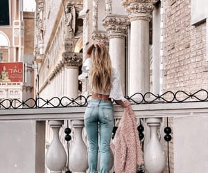buildings, denim, and fashion image