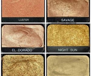 gold, cosmetics, and eyeshadow image