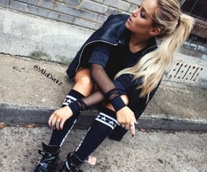 black, boots, and finger tattoos image