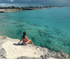 beach, paradise, and camila morrone image