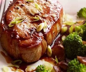 cooking, food, and pork chops recipe image