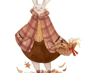 animal, autumn, and bunny image