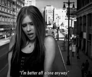 Avril Lavigne, alone, and music image