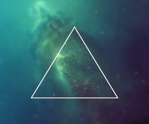 blue, green, and triangle image