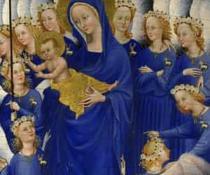 art, gold, and madonna image