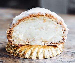 cream puff, custard, and vanilla image
