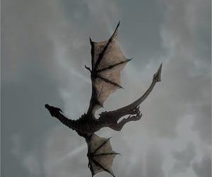 dragon, sky, and fantasy image