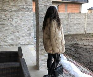 bag, fur, and brunette image