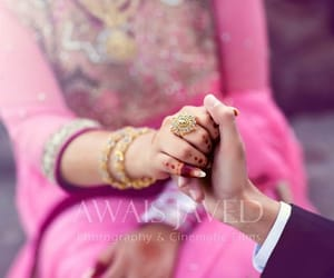 couple, holding hands, and wedding image
