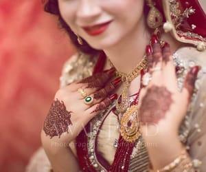 henna, indian bride, and muslim bride image