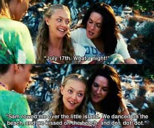 mamma mia, amanda seyfried, and movie image
