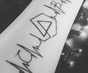 black and white, tattoo, and linkin park image