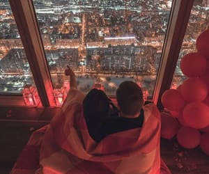 couple, night, and love image
