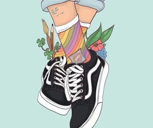 art, vans, and shoes image