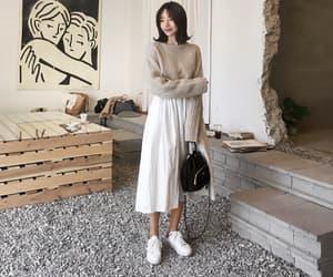 clothes, korean girl, and short hair image