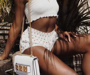 accessories, beach, and purse image