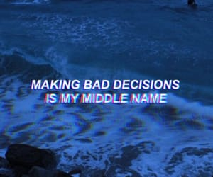 quote, blue, and decisions image
