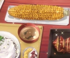 anime, corn, and fish image