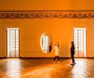 aesthetics, orange, and solar eclipse image