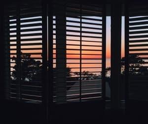 sky, sundown, and window image