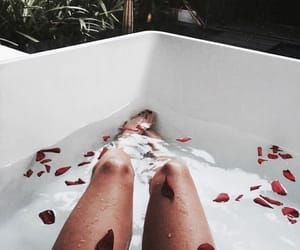 bath, rose, and relax image
