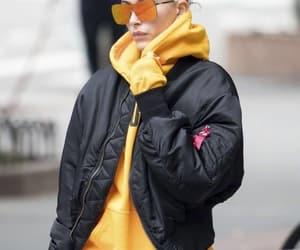 eyeglasses, street style, and yellow image