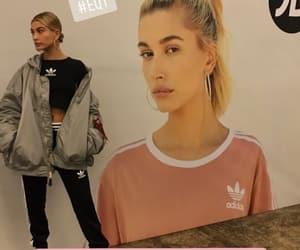 adidas, designer, and hailey baldwin image