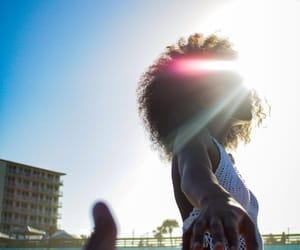 Afro, bikini, and black girl image