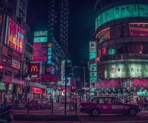 future, glow, and hong kong image