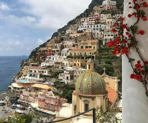 travel, flowers, and architecture image