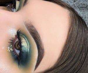 beautiful, eyebrows, and eyelashes image