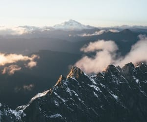 clouds, wanderlust, and mountains image