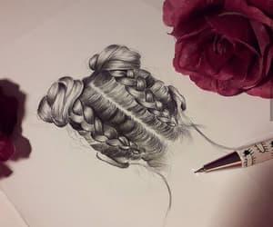 art, beautiful, and braids image