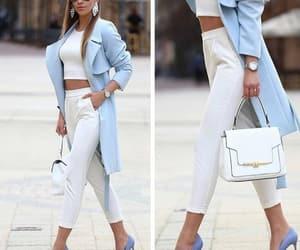 blue, fashion, and white image