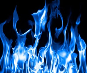 theme, fire, and blue image