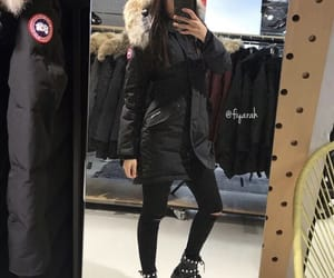 fashion style, canada goose, and outfit clothes image